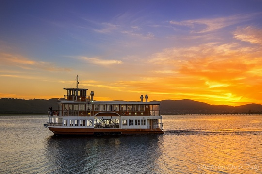 Knysna's own paddle cruiser. One of the exciting ferry trips on Knysna Lagoon