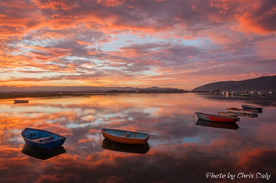 Sunset, Knysna Boats