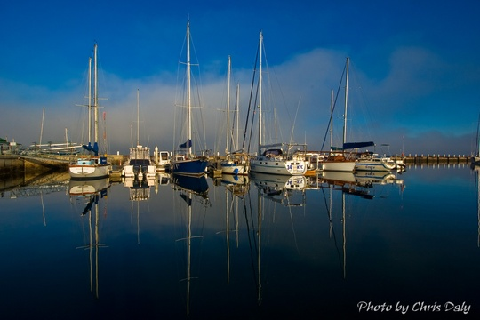 Yachts reflection, Knysna Boats