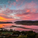 Knysna sunrise. Actual view from Paradise Found. Photo by Chris Daly.