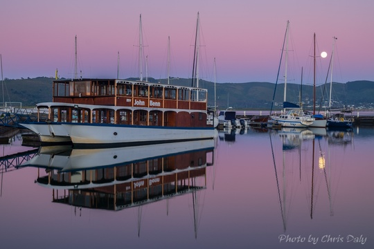 Knysna Waterfront, setting Supermoon.