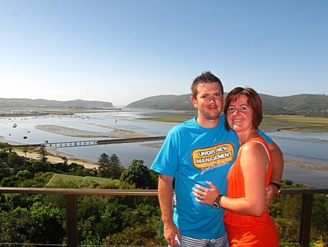 Michael & Marzanne Patterson on honeymoon 23 – 30 Dec 2013: Thank you for the wonderful week that we got to spend our honeymoon in Paradise Found. We definitely think the name says it all, we found our paradise! With a wonderful view of Knysna and the Heads! Thank you Jenny & Chris for your hospitality and the wonderful breakfast each morning and giving us ideas for what to do for the day!
