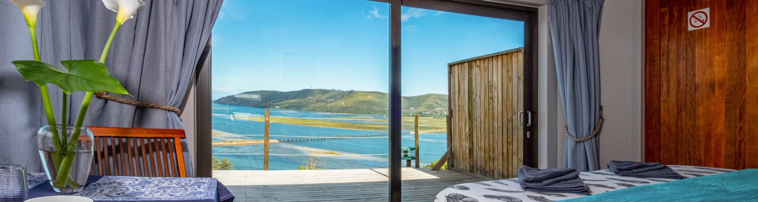 The Best view from a bed in Knysna!