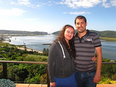Claire & Fernando Pereira on honeymoon 4-6 Dec.  2013: Thank you so much for your hospitality. We had a very relaxing 2 days on honeymoon. The view from the room is spectacular!!! We felt welcomed by yourself (Jenny & Chris), we will be sure to let others passing through Knysna know of your beautiful Guesthouse. It sure was Paradise.