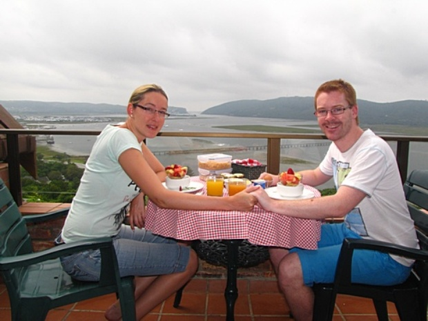 Nina & Ralf Reichenbach on honeymoon from Germany 13-15 Nov 2013: Thank you very much, we really enjoyed our stay! Thank you for your hospitality, the wonderful breakfast and for the information of Knysna and its surroundings.