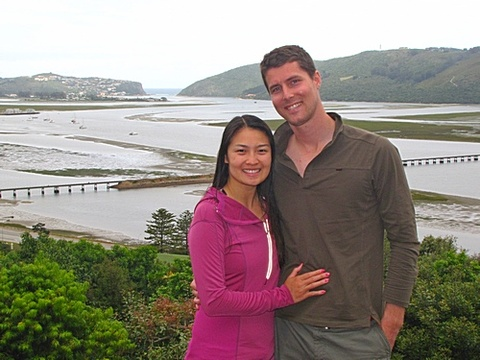 Michelle & David Russell on honeymoon from China 2-5 Oct.2013: Thank you so, so much for your hospitality here in Knysna. We are so blessed to be able to spend our honeymoon in your lovely home, in a lovely place with lovely weather! It's great to be able to witness your 42nd wedding anniversary as well – we hope to get there some day ourselves!  All the best for the future. Thank you again for making this a wonderful experience for us. Truly appreciate all the personal touches.