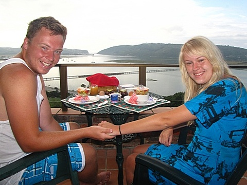 Derick & Chantel du Toit on honeymoon 21- 23 Dec. 2013: Thank you for 2 wonderful days in Paradise Found. The view was breathtaking. Thank you for your hospitality. Thank you for the wonderful breakfast and information about Knysna. We have enjoyed our stay a lot.