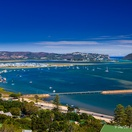 Knysna Lagoon. Actual view from Paradise Found. Photo by Chris Daly.